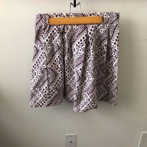 Aztec Print A-Line Skirt
